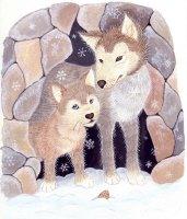 Little Wolf in Den