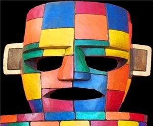 CHAC MUL  (Maya Rain God) Mayan Mask