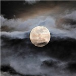 January Full Moon With Clouds