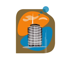 Capitol Records Building | 1950's Googie Architecture T-shirts & Gifts