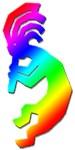 Rainbow Kokopelli