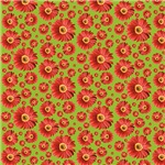 Red Pop Daisy Pattern