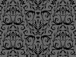 Grey And Black Damask Pattern