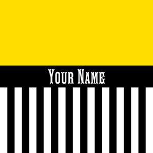 Yellow Plus Black & White Stripes Custom