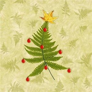 Nature Fern Holiday Tree