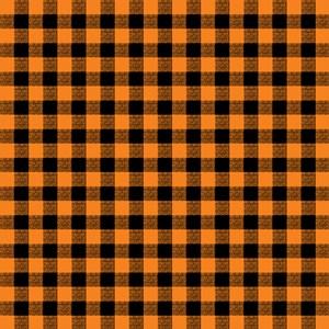 Orange And Black Gingham