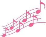 Pink Music Notes