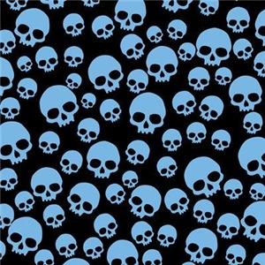 Random Blue Skulls