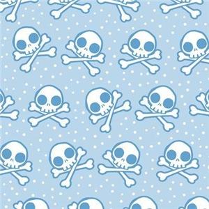 Cute Blue Skulls