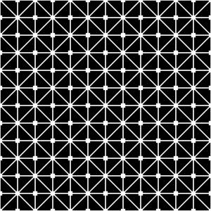Black And White Grid Lattice Pattern