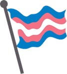 Transgender Pride Flag Waving