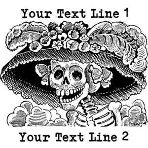 CUSTOM TEXT Vintage Catrina