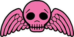 Cute Pink Winged Skull