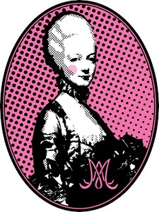 Oval Marie Antoinette Pop Art