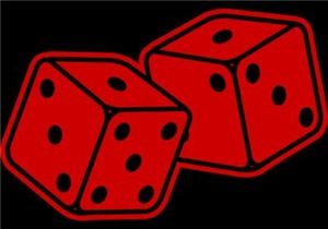 Retro Red Dice