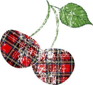 Worn Plaid Cherries