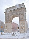 Greenwich Village: Washington Sq. Arch in Winter