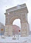 Greenwich Village: Washington Sq. Arch in Winter