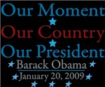 OBAMA INAUGURATION DAY T-SHIRTS AND SOUVENIRS