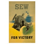 Sew For Victory - War Poster