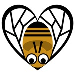 Heart Shaped Honeybee