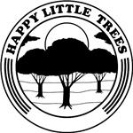 happy little trees (black)