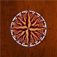 Compass Rose Wood