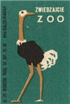 Ostrich Matchbox Label