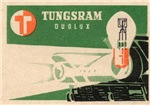 Lightbulb Matchbox Label