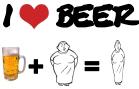 Beer + fat woman