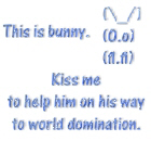 Kiss me to help bunny