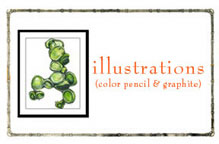illustrations (abstract color pencil & graphite)