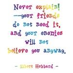Never Explain