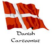 Danish Cartoonist (Denmark Flag)