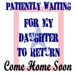 Patiently waiting for daughter