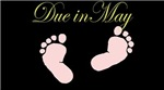 Due in May Baby Feet Maternity