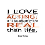 Oscar Wilde Quote on Acting T-shirts & Gifts