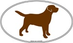 Chocolate Lab Outline