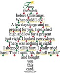 Christmas Tree Gift Poem Cards