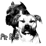 Two head pit bull design