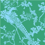Japanese Print (Bird-Green)