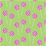 Lollipop Pattern (Green)