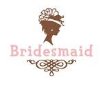 Cameo Bridesmaid (Pink & Brown)
