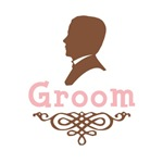 Cameo Groom (Pink & Brown)