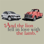 And the lion fell in love with the lamb.