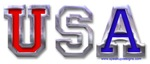 USA Chrome 3D