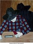 Musing Cowboy by L. Hopwood