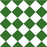 Sports Team Uniform Colors Green White Argyle