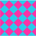 Harlequin Diamond Argyle Pattern Neon Pink Blue