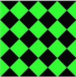 Harlequin Diamond Argyle Pattern Black Neon Green